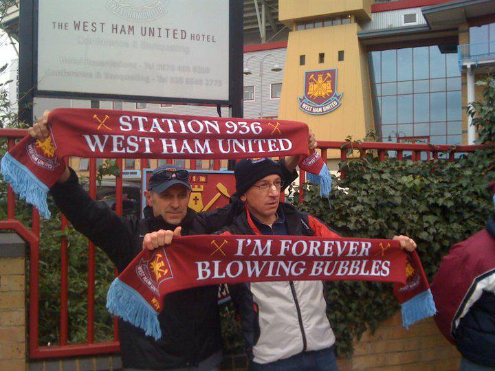 La prima sciarpa sul West Ham United made in Italy