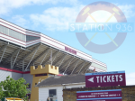 "Cartello biglietteria settore ""Sir Trevor Brooking"" ad Upton Park"