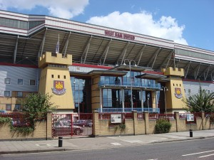 L'ingresso principale del Boleyn Ground/Upton Park
