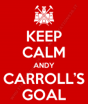 Keep Calm Andy Carroll's goal