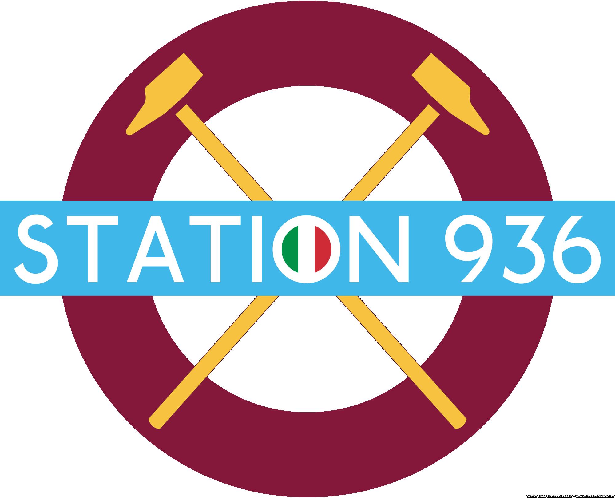 Logo Station 936 West Ham United Italia versione tricolore