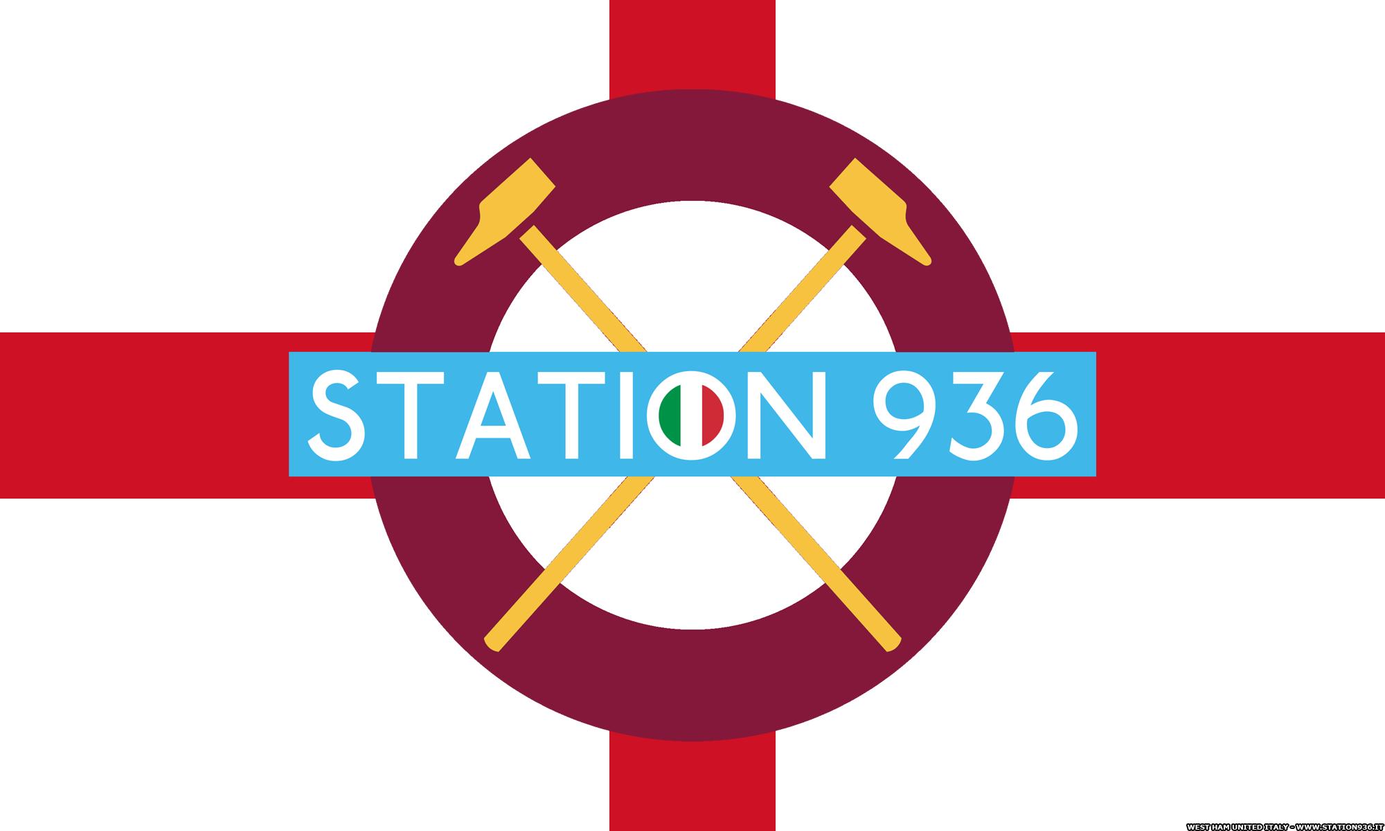 Logo Station 936 su bandiera inglese