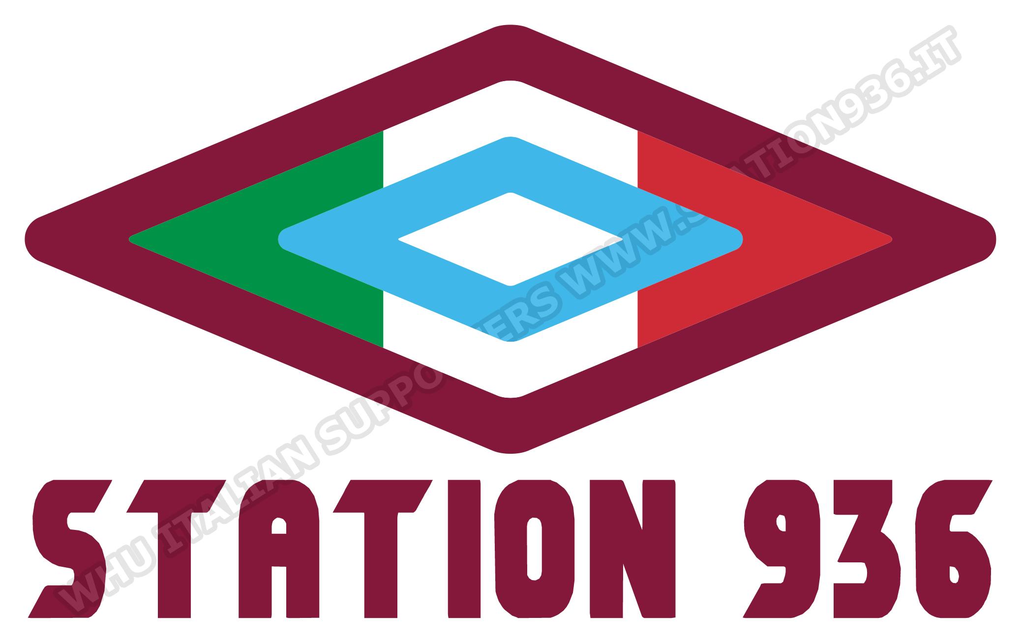 Logo Umbro claret and blue con tricolore italiano
