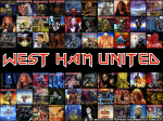 Album Iron Maiden con scritta West Ham United