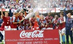 Festeggiamenti per la promozione in Premier League del West Ham United nel 2005