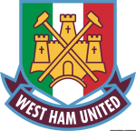 Logo West Ham United con tricolore italiano