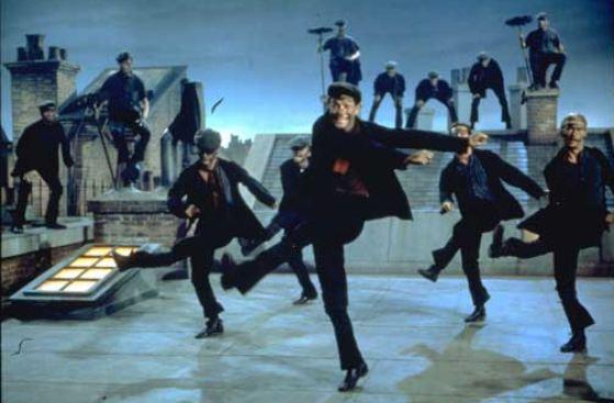 Dick Van Dyke canta la filastrocca in Mary Poppins