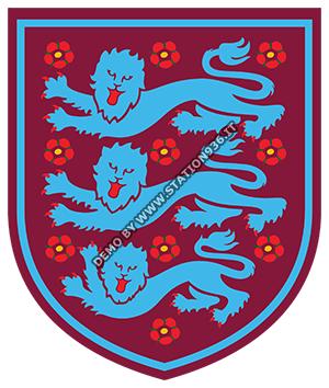 Logo nazionale inglese in versione West Ham United claret & blue