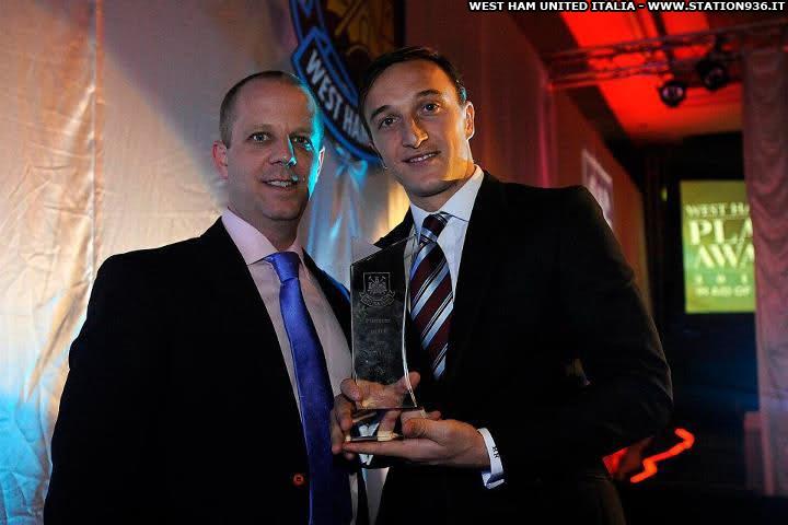 Mark Noble nominato miglior giocatore dell'anno del West Ham United stagione 2011-2012