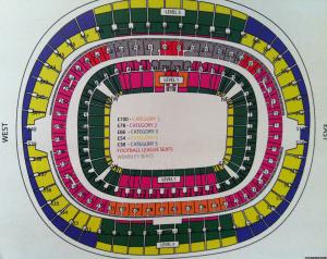 Foto in anteprima della suddivisione dei posti per la fine play-off di Wembley