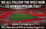 I tifosi italiani del West Ham United si preparano per Wembley
