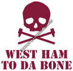West Ham to da bone con martelli incrociati