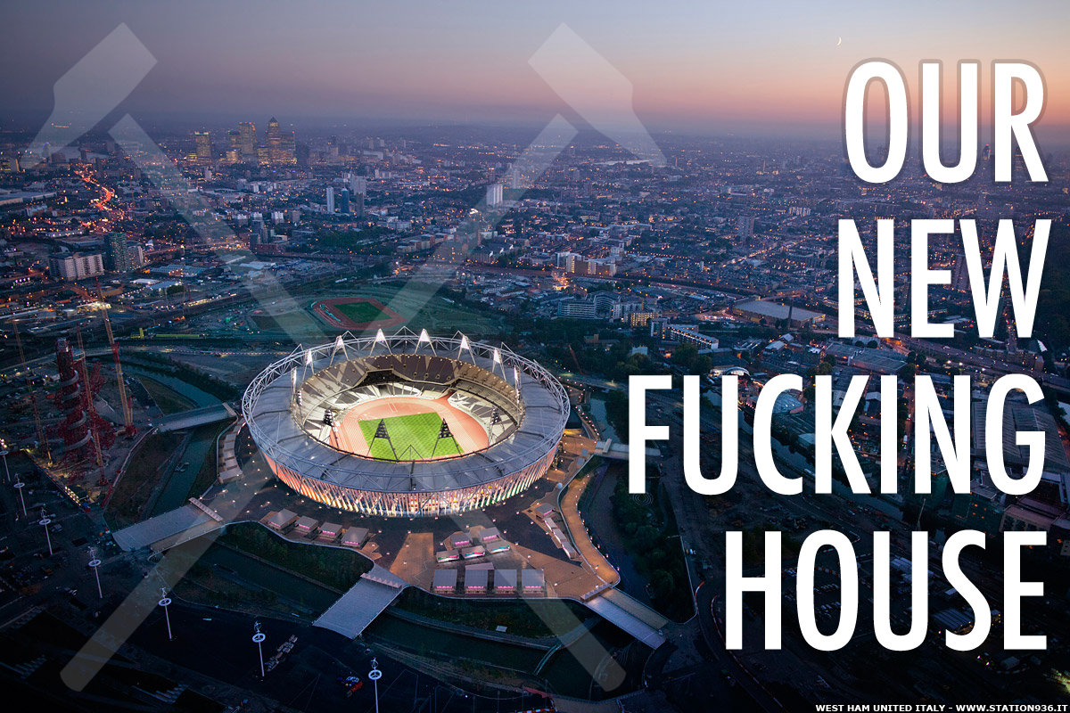 London Olympic Stadium: our new fucking house