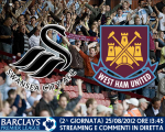 Swansea City vs. West Ham United 25/08/2012