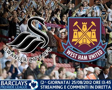Swansea City vs. West Ham United 25/08/2012
