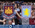 West Ham United vs. Aston Villa 18/08/2012