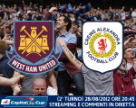 West Ham United vs. Crewe Alexandra Capital One Cup 28/08/2012
