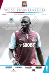 Match programme partita coppa West Ham vs. Wigan del 25/09/2012