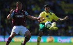 Kevin Nolan durante Norwich City vs. West Ham United