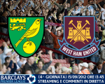 Match thread Nowrich City vs. West Ham United 15/09/2012