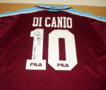 Maglietta West Ham United n. 10 di Paolo Di Canio con autografo