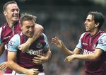 Festeggiamenti di Mark Noble dopo il goal contro il Southampton