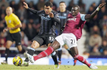 Diame e Tevez durante West Ham vs. Manchester City