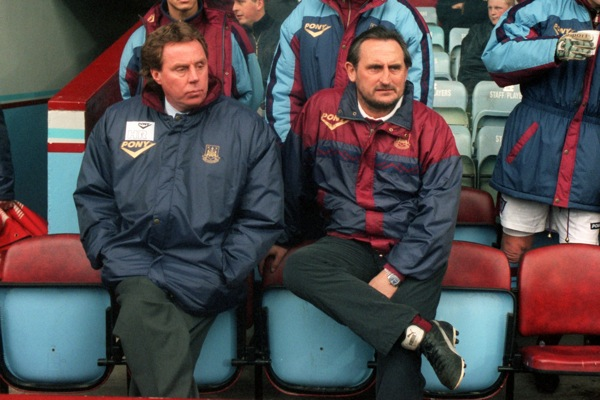 West Ham's Harry Redknapp and Frank Lampardponder the situation.