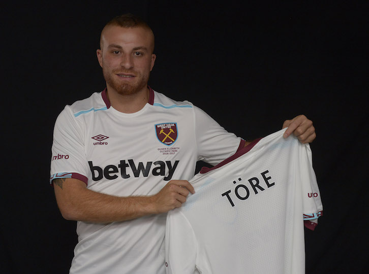 Pic by Arfa /  Griffiths Photographers Gokhan Tore Signs for West Ham United  06-07-2016  NO FREE USE