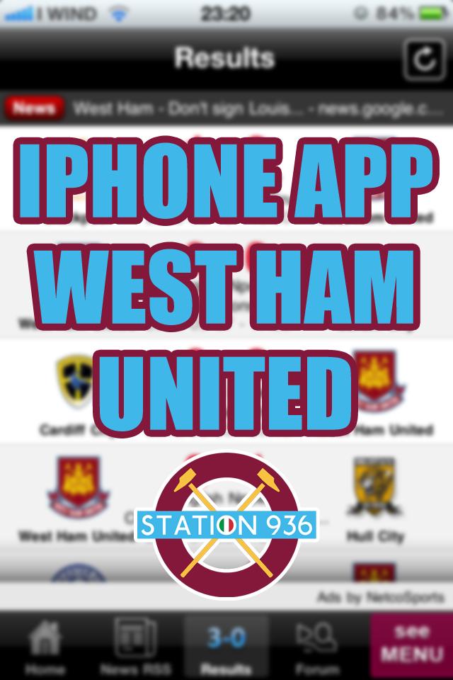 Applicazioni iPhone West Ham United