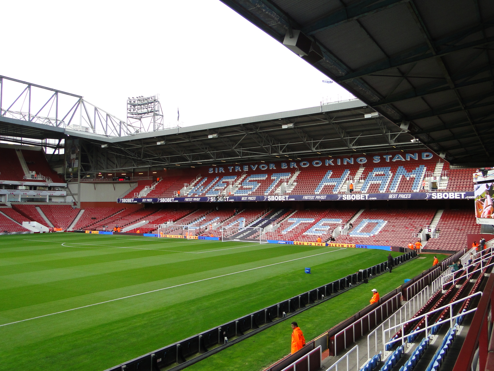 Sir Trevor Brooking Stand ad Upton Park