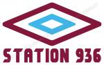 Logo Umbro in versione claret e blue con scritta Station 936