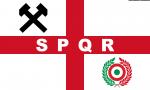 Bandiera West Ham United SPQR from Italy con martelli grandi