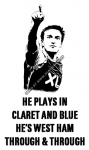Mark Noble He plays in claret and blue He's West Ham through & through