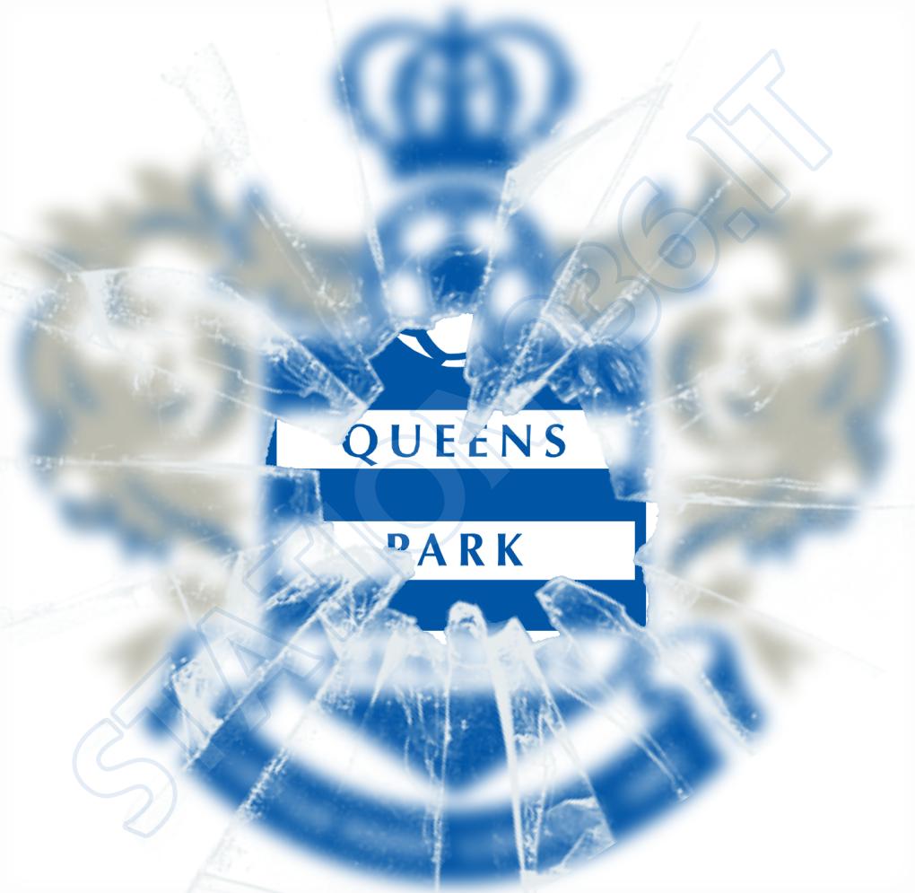 Logo Queens Park Rangers con vetro crepato
